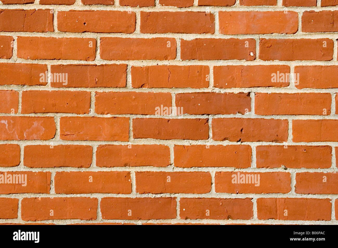 Muro di mattoni di sfondo, può essere usato come uno sfondo rosso. Immagini Stock