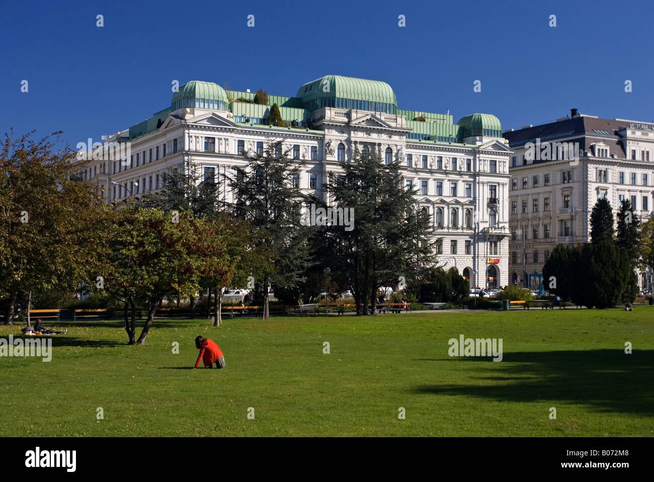 Sigmund Freud Park Vienna Immagini Stock