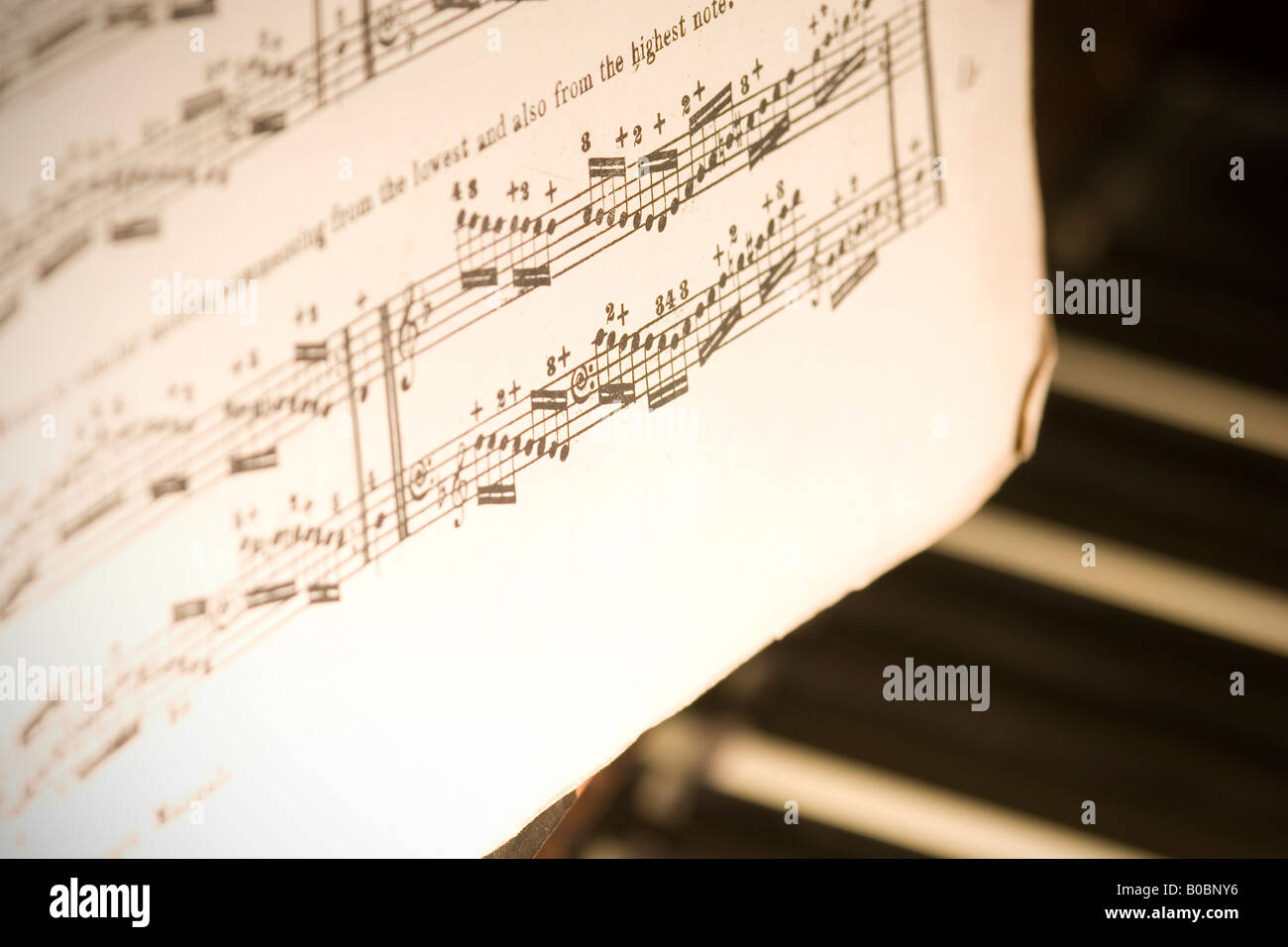 Notation music immagini & notation music fotos stock alamy