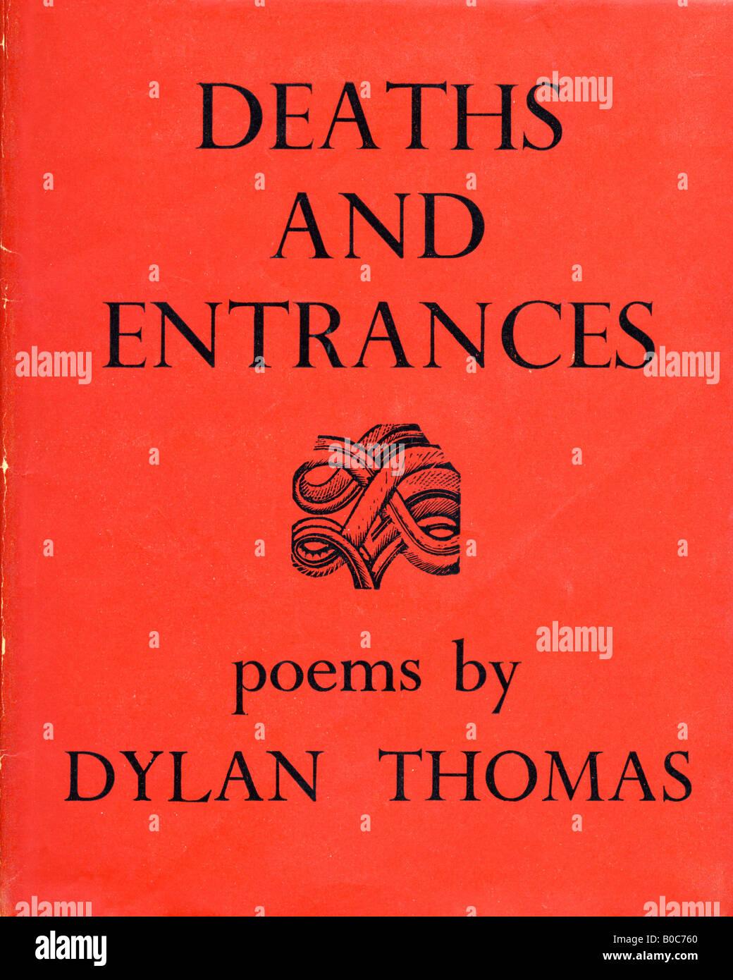 Decessi e ingressi poesie di Dylan Thomas libro rigida con coperchio pubblicato da Dent & Sons London 1946 per Immagini Stock