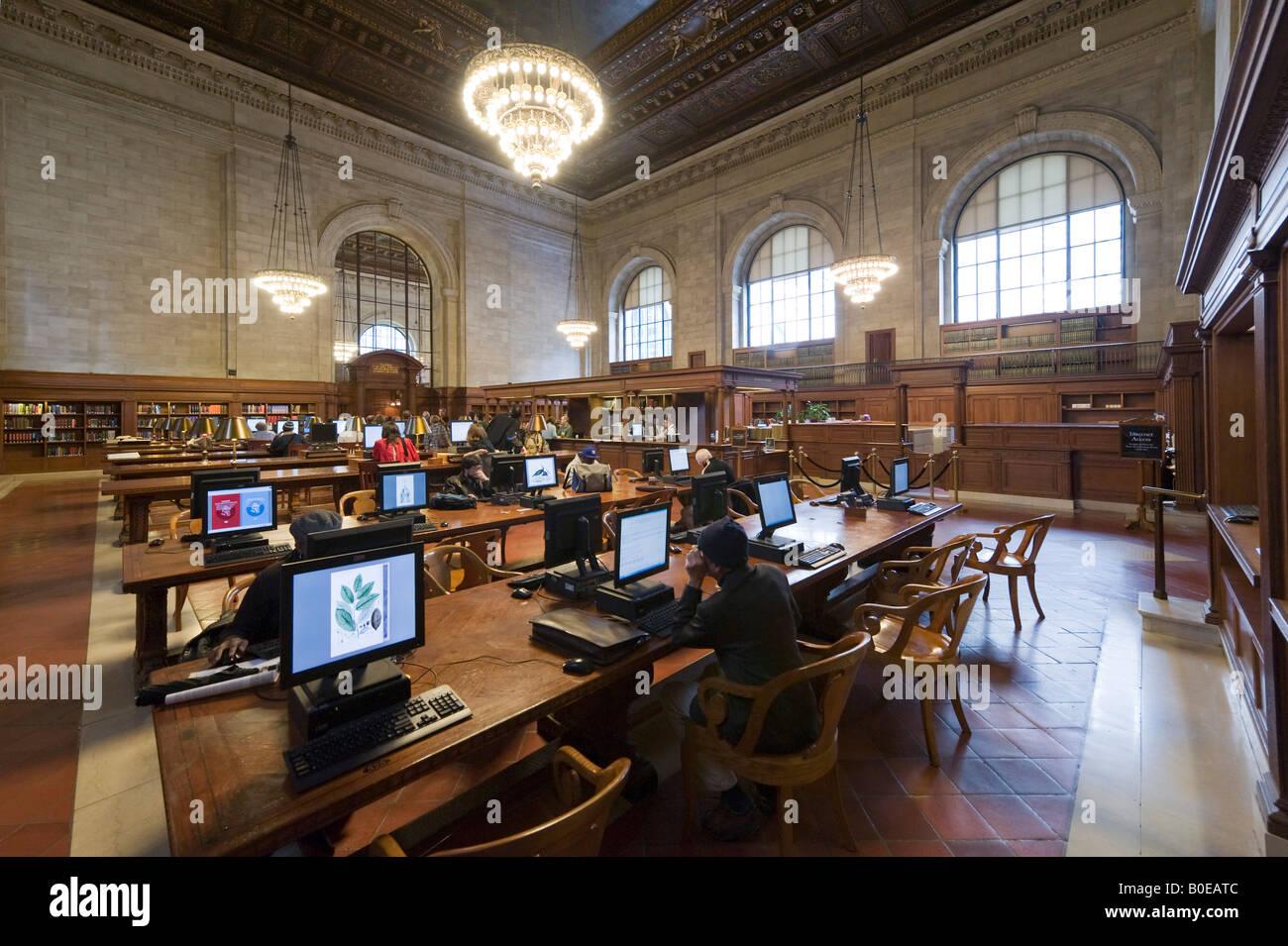 Bill Blass Catalogo pubblico Camera, New York Public Library, Quinta Avenue, Midtown Manhattan, a New York City Immagini Stock
