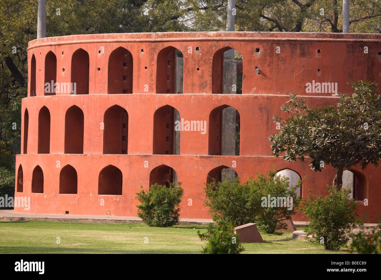 La Ram Yantra a Jantar Mantar a New Delhi, India. Il Jantar Mantar è stato osservatorio costruito da Jai Singh Immagini Stock