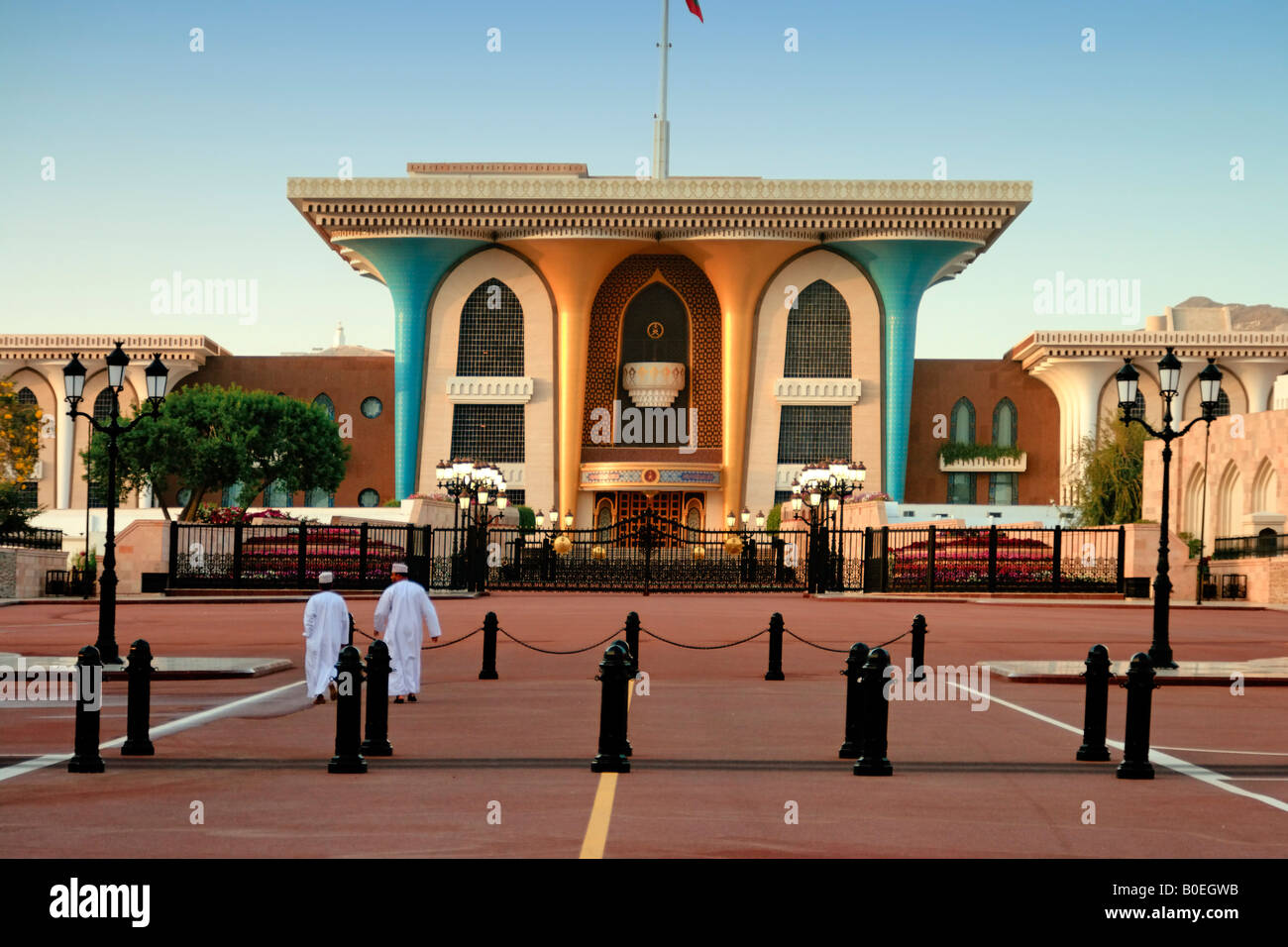 Oman Muscat sultani Palace Immagini Stock