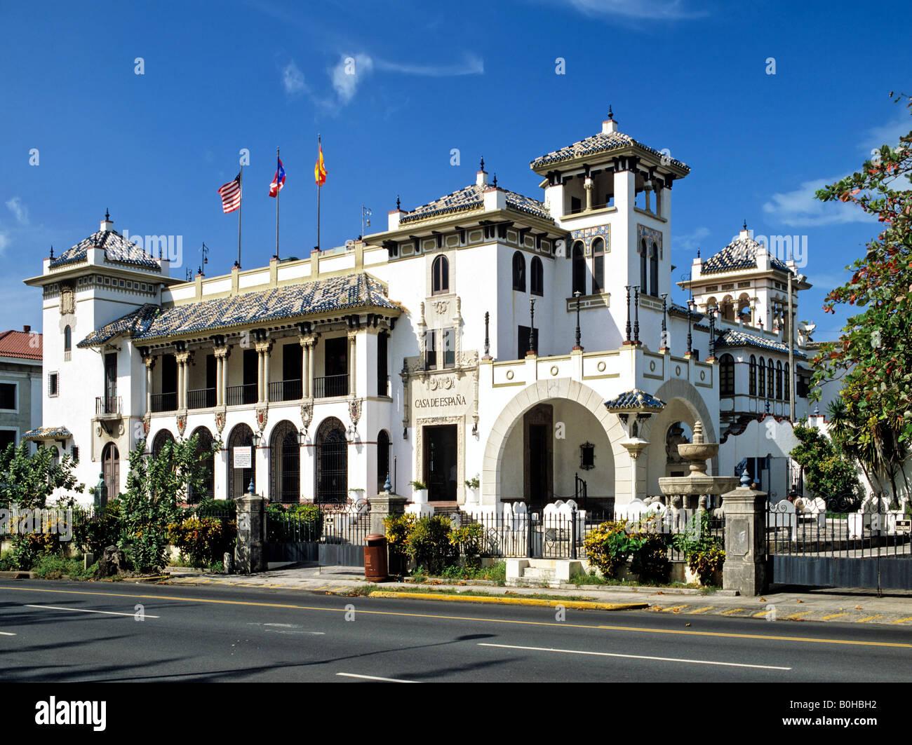 Casa de Espana, San Jose, Puerto Rico e dei Caraibi Immagini Stock