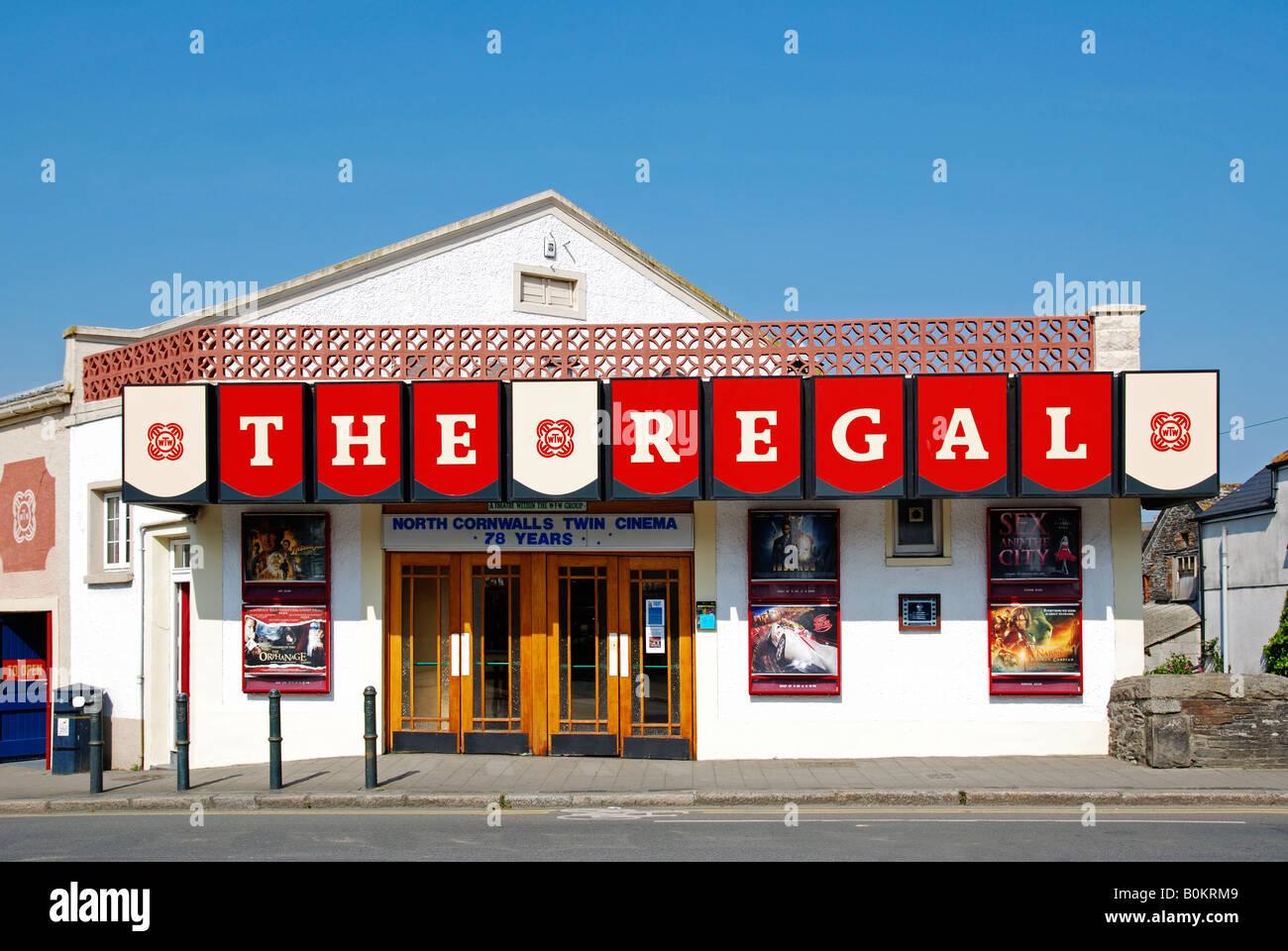 Il vecchio regal cinema a St Albans in Cornovaglia,Inghilterra Immagini Stock