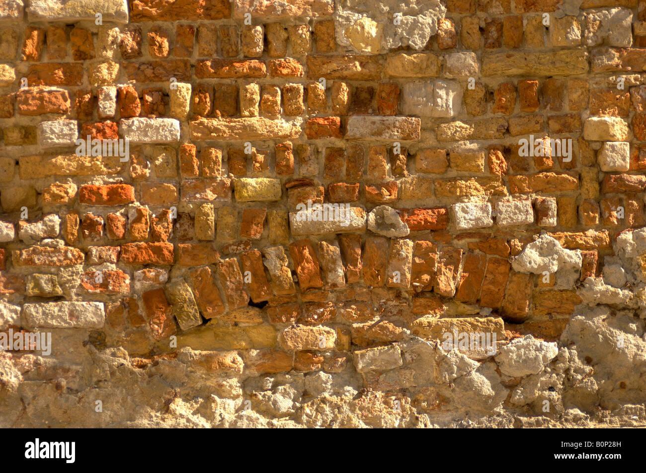 Venetian vecchio muro in mattoni Immagini Stock