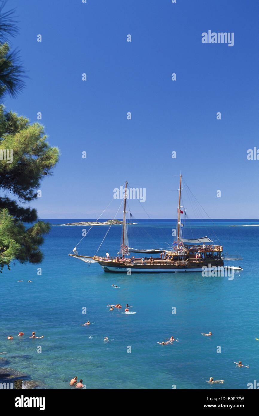 Caicco barche in Incekum, Riviera Turca, Turchia Immagini Stock
