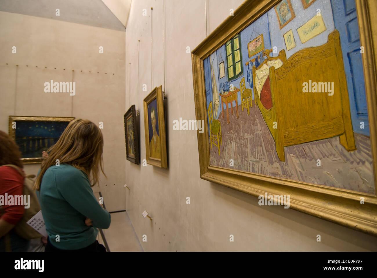 Vincent van Gogh s la pittura ad olio la camera da letto nel ...