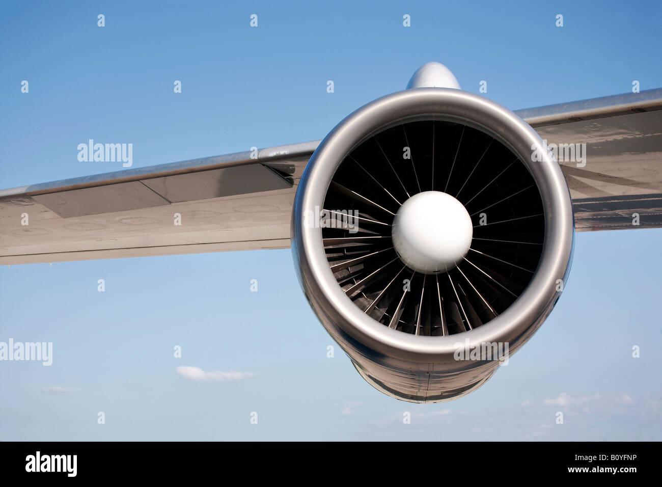 Motore Jet, close-up Immagini Stock