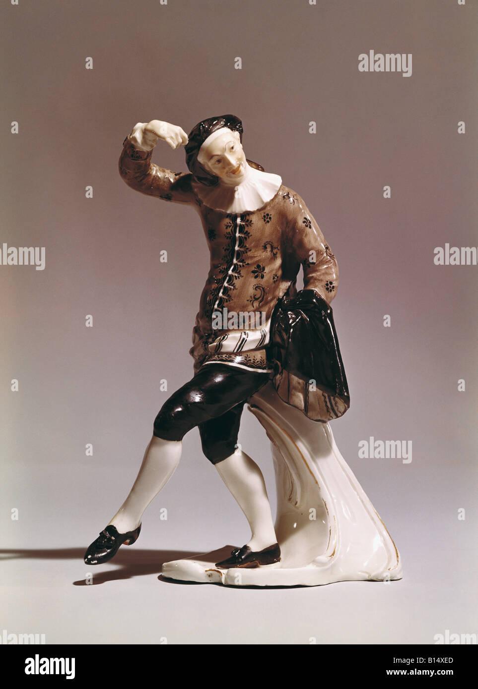 """Belle arti, Bustelli Franz Anton (12.4.1723 - 18.4.1763), scultura, """"Innamorato"""" (l'Amore), 1756, Immagini Stock"""