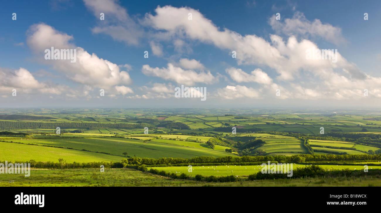 Spettacolare paesaggio del Parco Nazionale di Exmoor e rurali di Devon England Immagini Stock