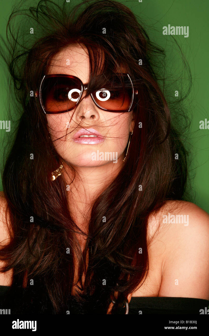 Brunette donna, ritratto Immagini Stock