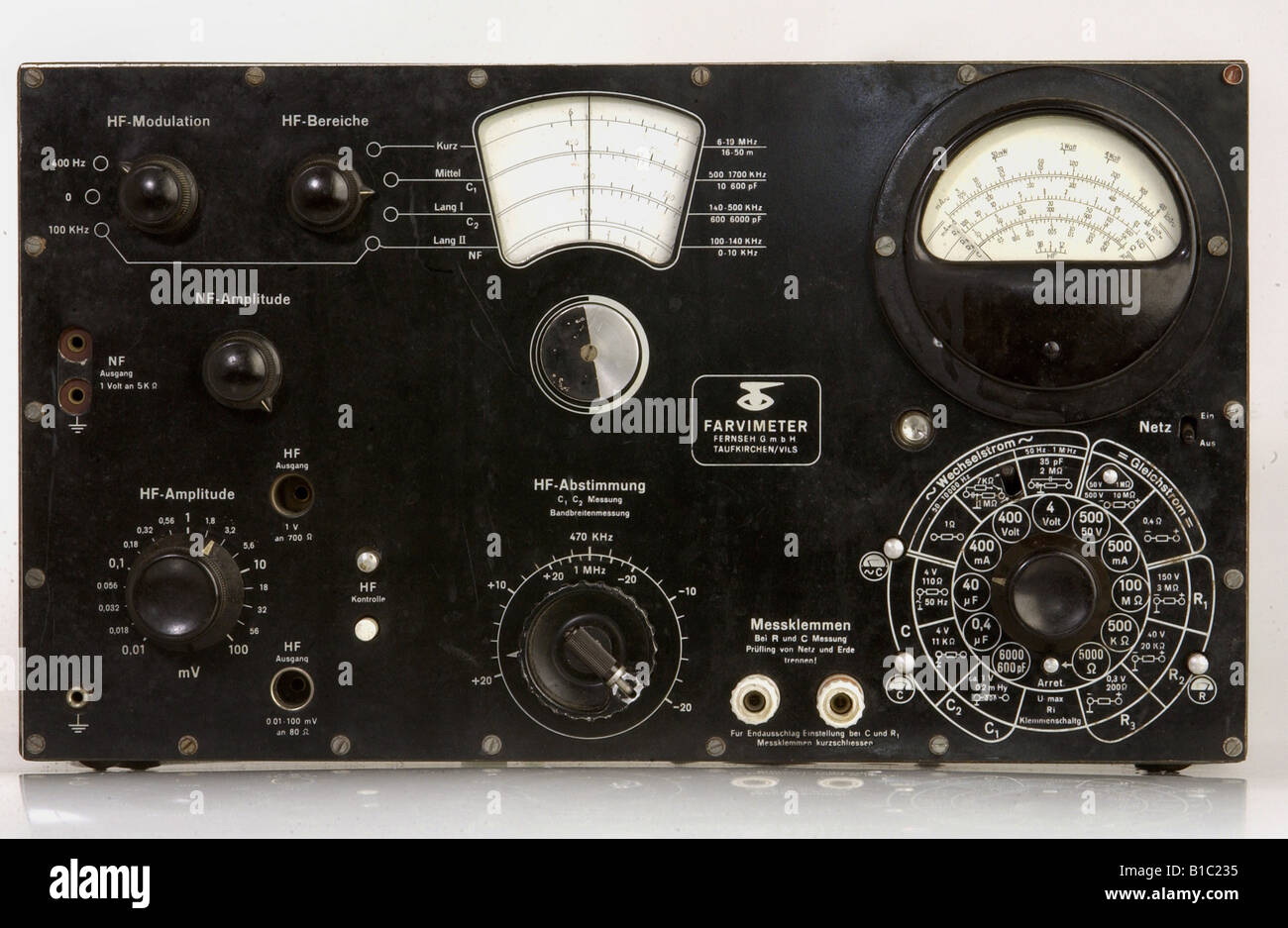 Technics, analizzatore di spettro, radio, Farvimeter, televisione GmbH Taufkirchen, Vils, Germania, 1947, Additional Immagini Stock
