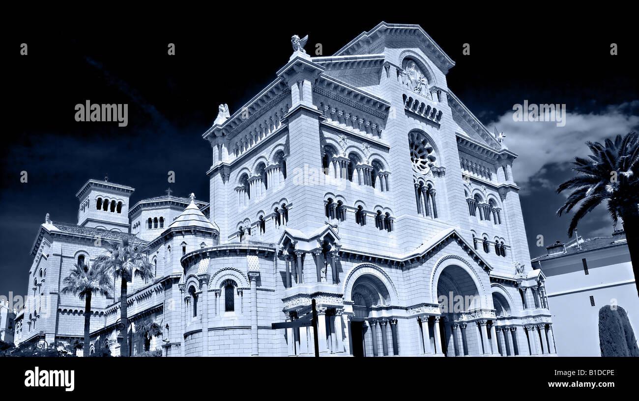 Il PRINCIPATO DI MONACO, l'Europa. Cattedrale del Principato di Monaco in Europa occidentale Immagini Stock