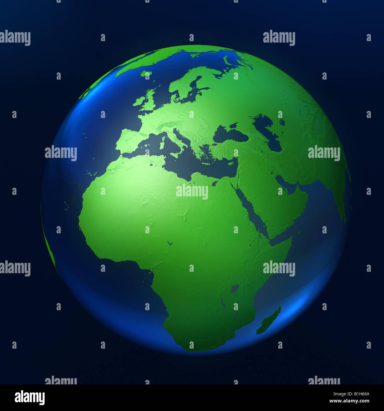 Computer generato globe Immagini Stock