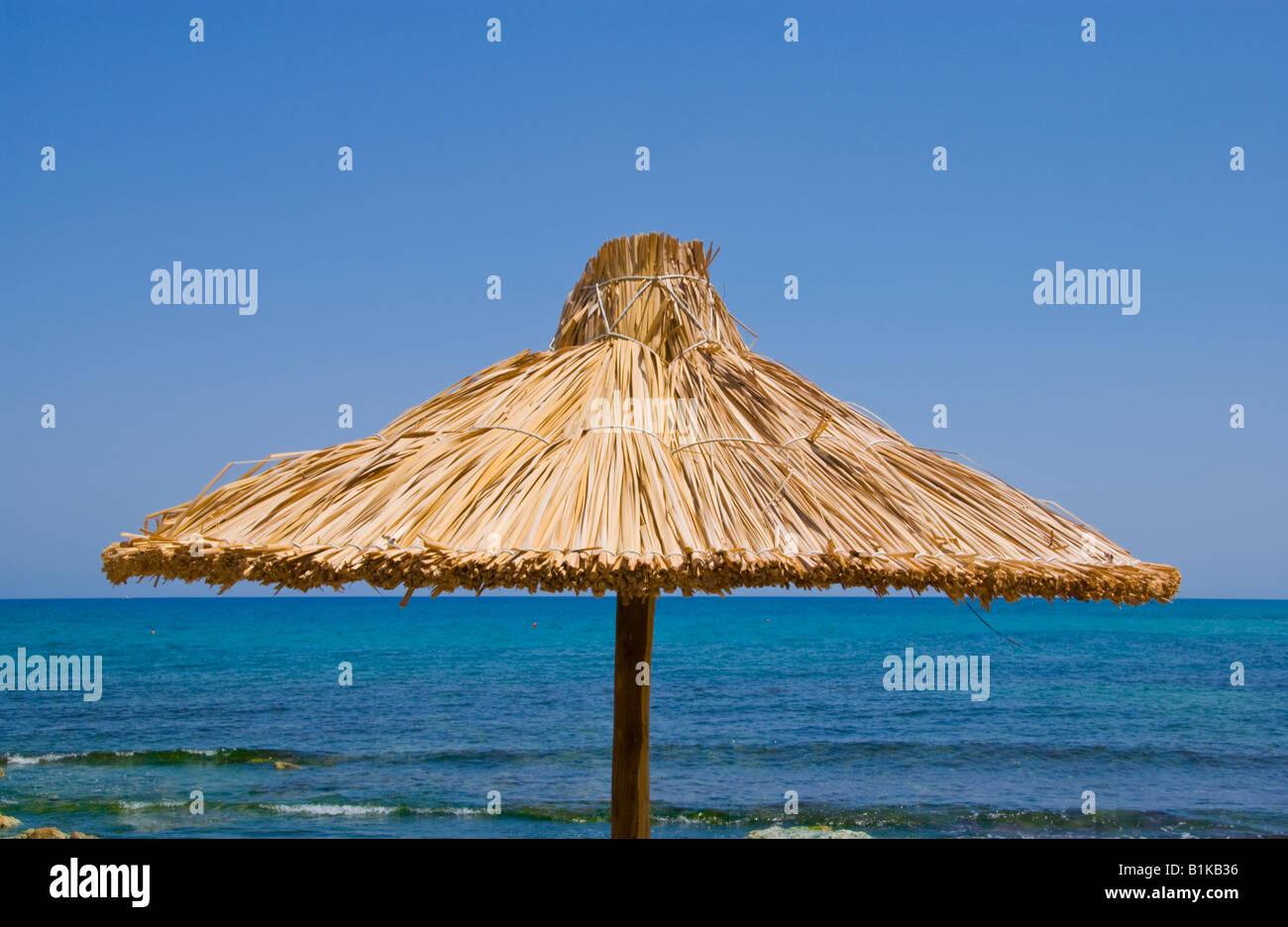 Ombrelloni Di Paglia Vendita.Creta Spiaggia Ombrelloni Di Paglia Sulla Spiaggia Di Malia Sul