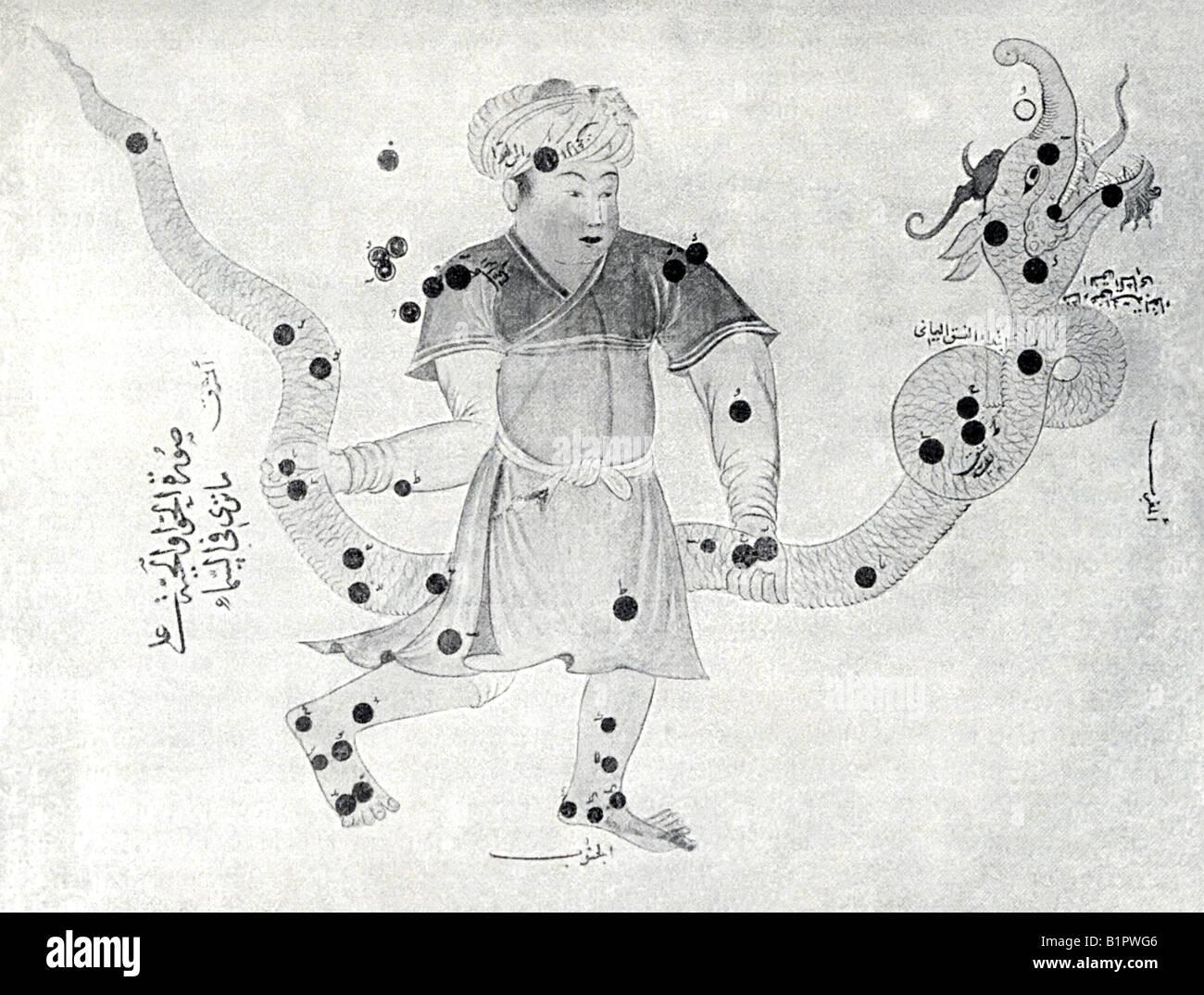 Immagine nel lavoro arabo di Astronomia Immagini Stock