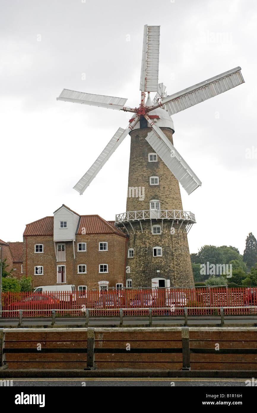 Maud Foster windmill Boston Lincolnshire UK Immagini Stock
