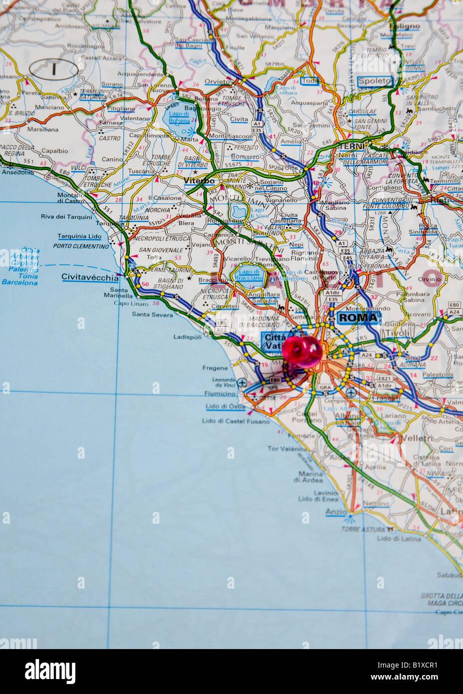 Cartina Dettagliata Roma.Mappa Di Roma Immagini E Fotos Stock Alamy