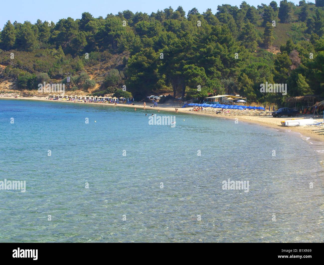 Ag Eleni beach,Skiathos,Grecia. Immagini Stock