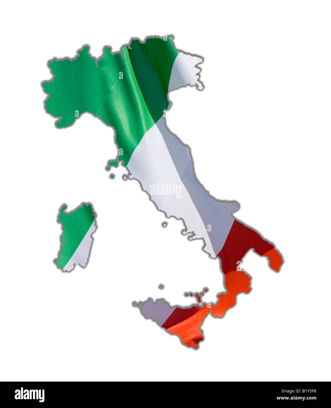 Cartina Dell Italia Solo Contorno.Mappa Di Contorno Italia Foto Stock Alamy