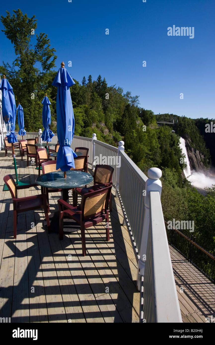Manoir Montmorency a Montmorency Falls Park vicino a Quebec City Foto Stock