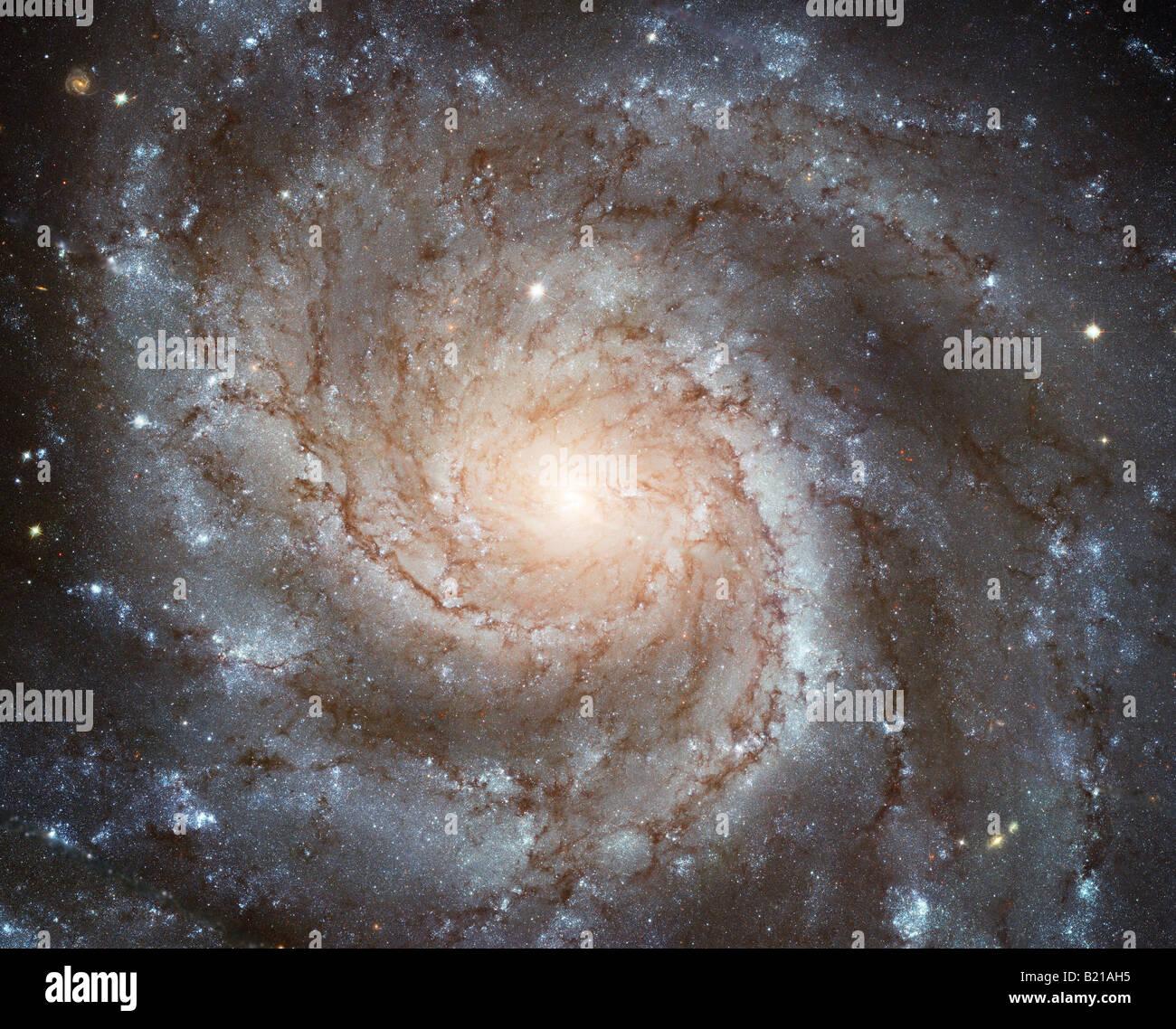La NASA foto di Hubble della galassia a spirale Immagini Stock