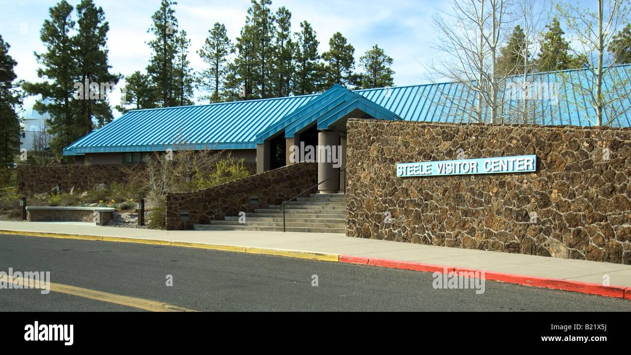 Steele Visitor Center presso l'Osservatorio di Lowell di Flagstaff in Arizona Immagini Stock