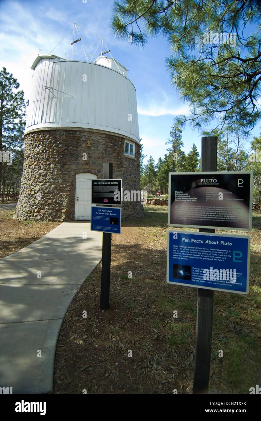 Il Pluto cupola all'Osservatorio di Lowell dove Clyde Tombaugh scoprì Plutone. Immagini Stock
