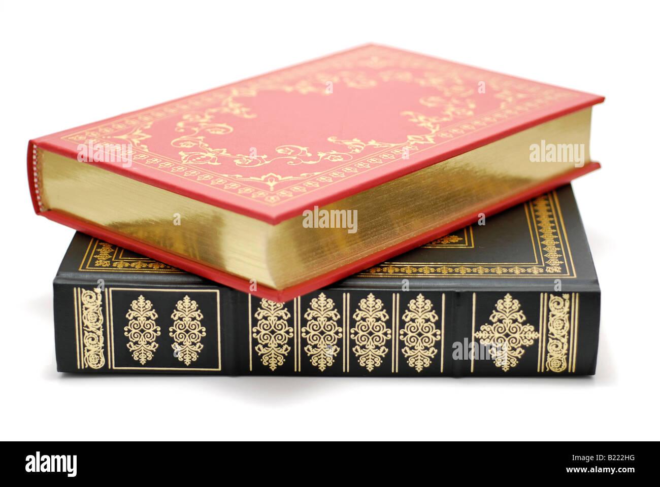Il cuoio di libri rilegati con nessuno dei titoli Immagini Stock
