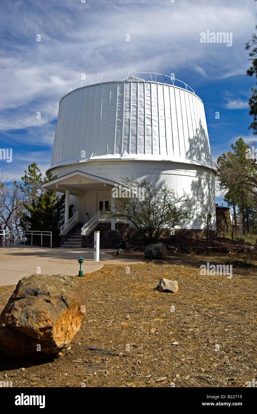 Il Telescopio Clark cupola all'Osservatorio di Lowell Immagini Stock