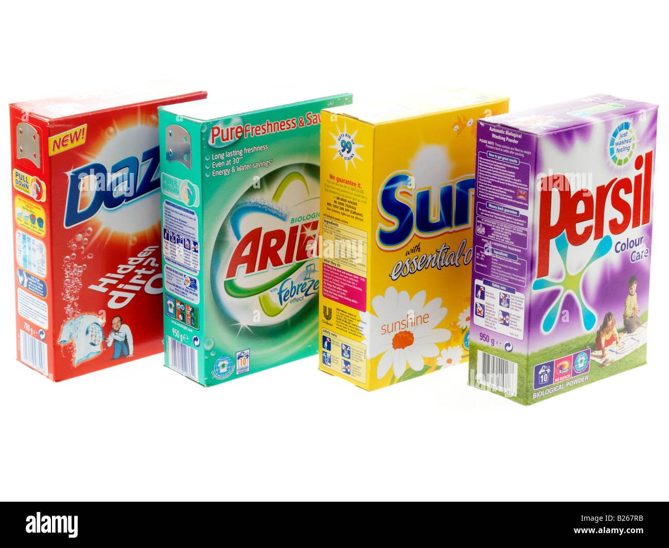 Polveri di lavaggio Foto Stock