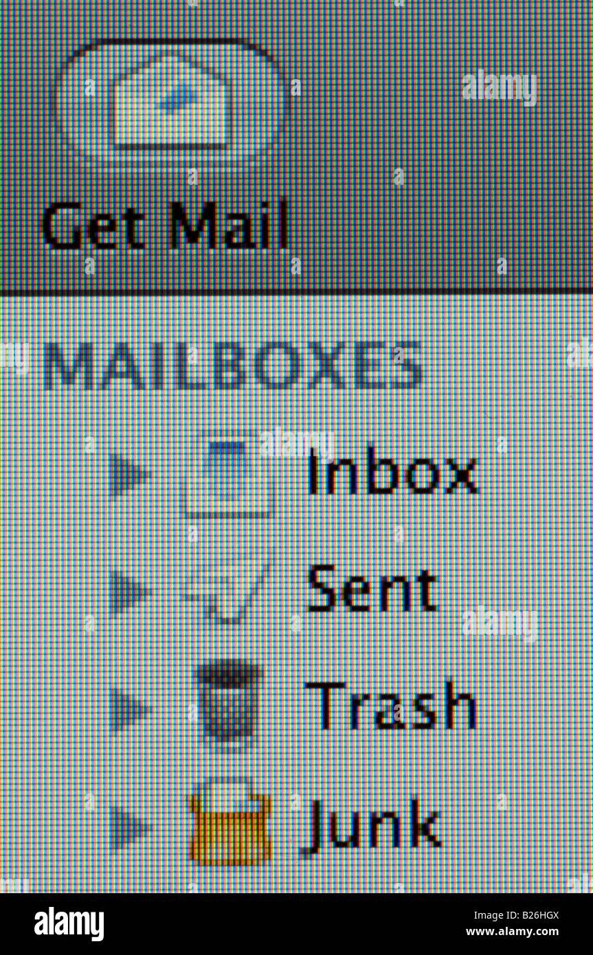 Applicazione di posta elettronica Immagini Stock