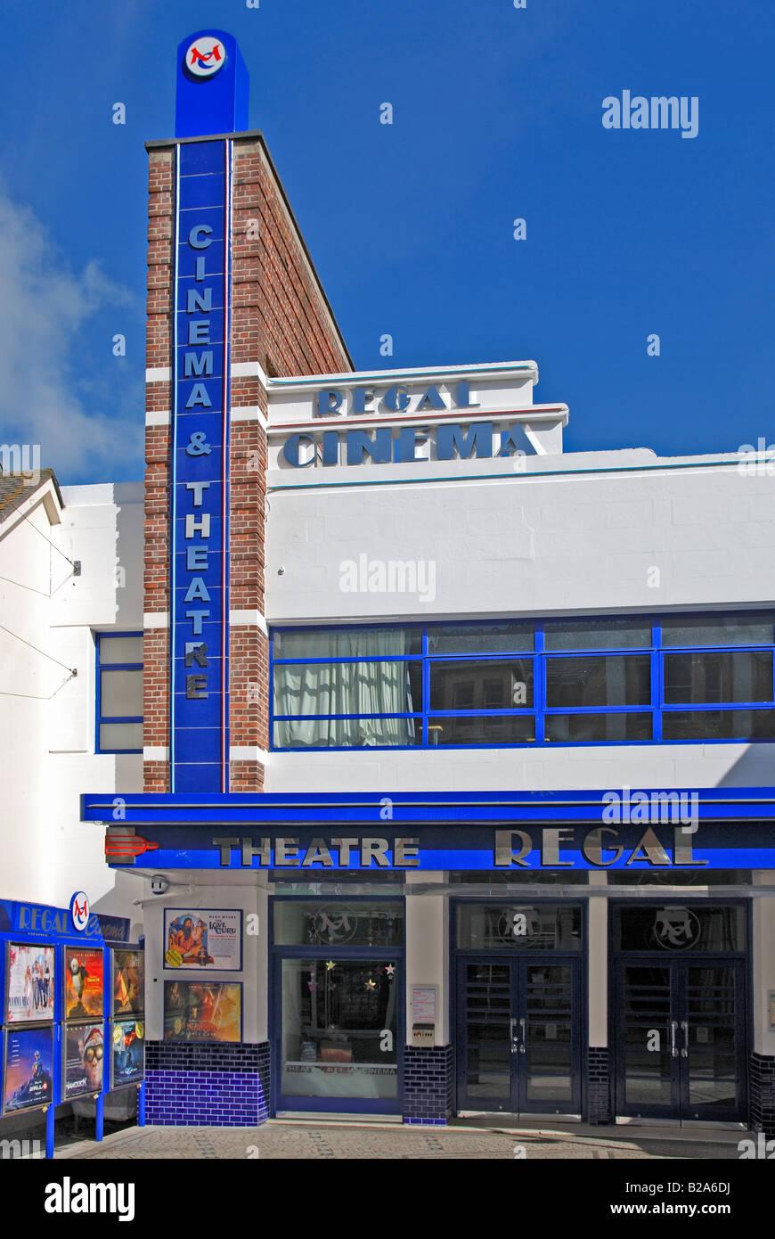 Il recentemente rinnovato regal cinema in redruth,cornwall, Regno Unito Immagini Stock