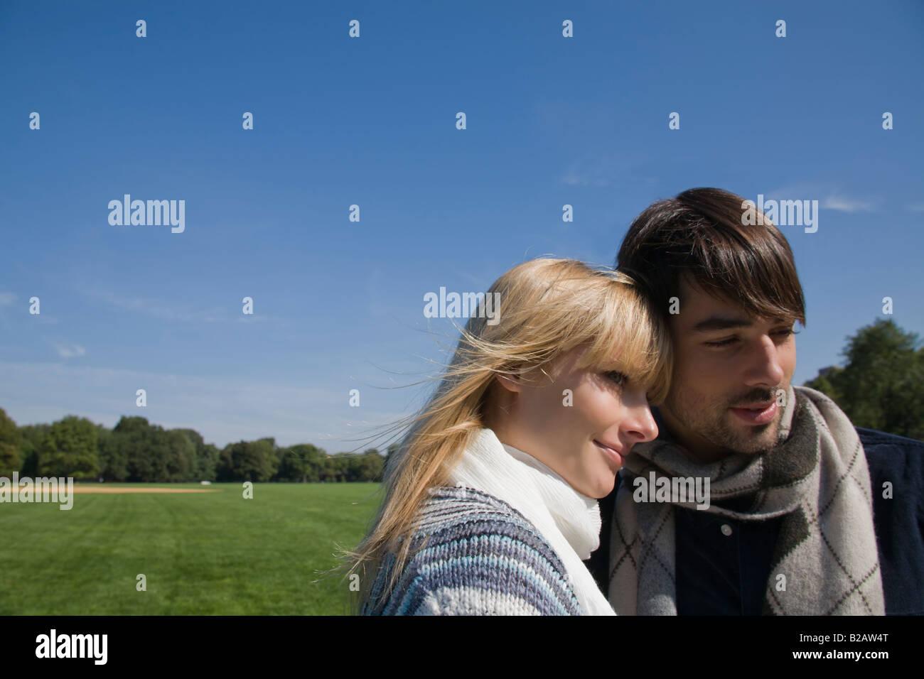 Close-up di coppia romantica Immagini Stock