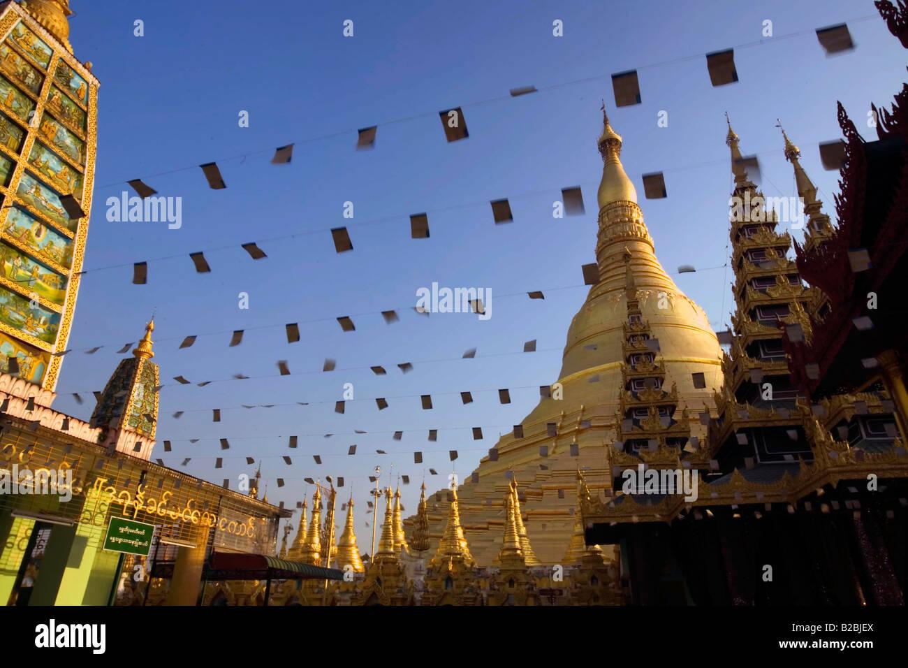 Shwedagon Paya il più venerato di tutti Payas Yangon Myanmar Foto Stock