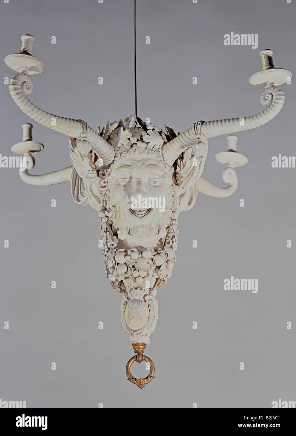 Abitazione, lampade, lampadario di Christof Angermair, avorio, Monaco di Baviera, circa 1625, Additional-Rights Immagini Stock