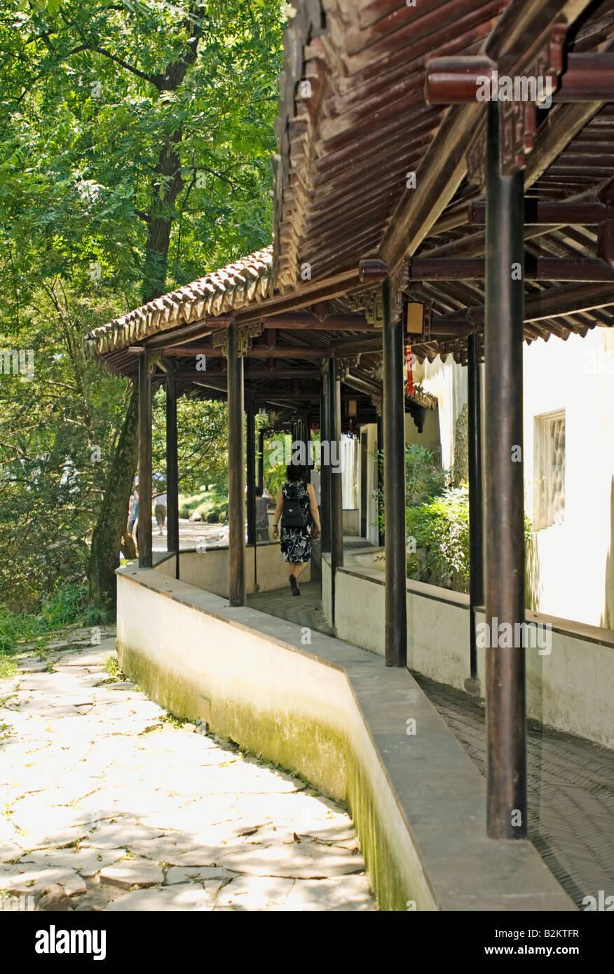 Cina, Suzhou, umile Administrator's Garden, Zhouzheng Yuan Immagini Stock