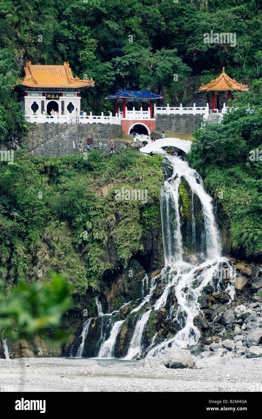 Taiwan, Eterna Primavera Santuario, Taroko National Park Immagini Stock