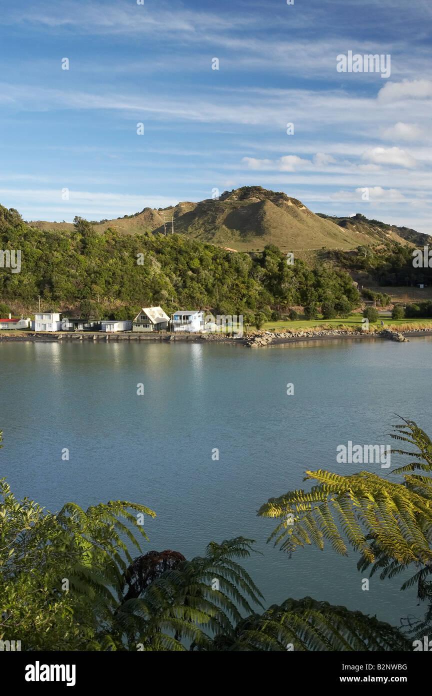 Case vacanza Baches Tongaporutu Taranaki Isola del nord della Nuova Zelanda  Immagini Stock 8b395703262
