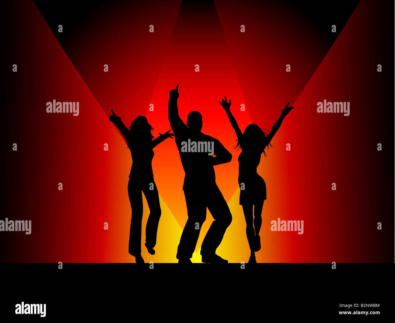 ballare in discoteca Immagini Stock