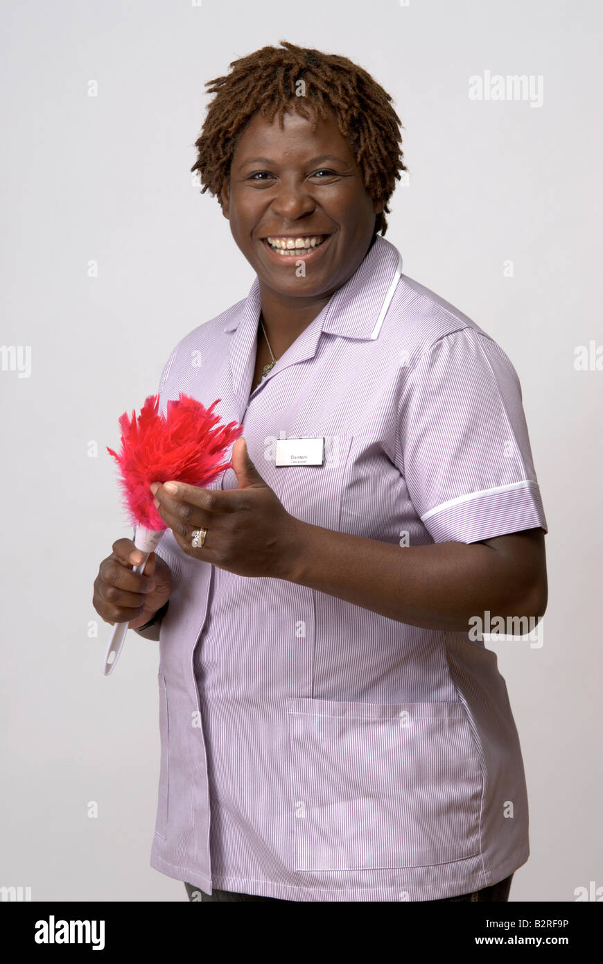 Black afro-caraibica care assistant Foto Stock