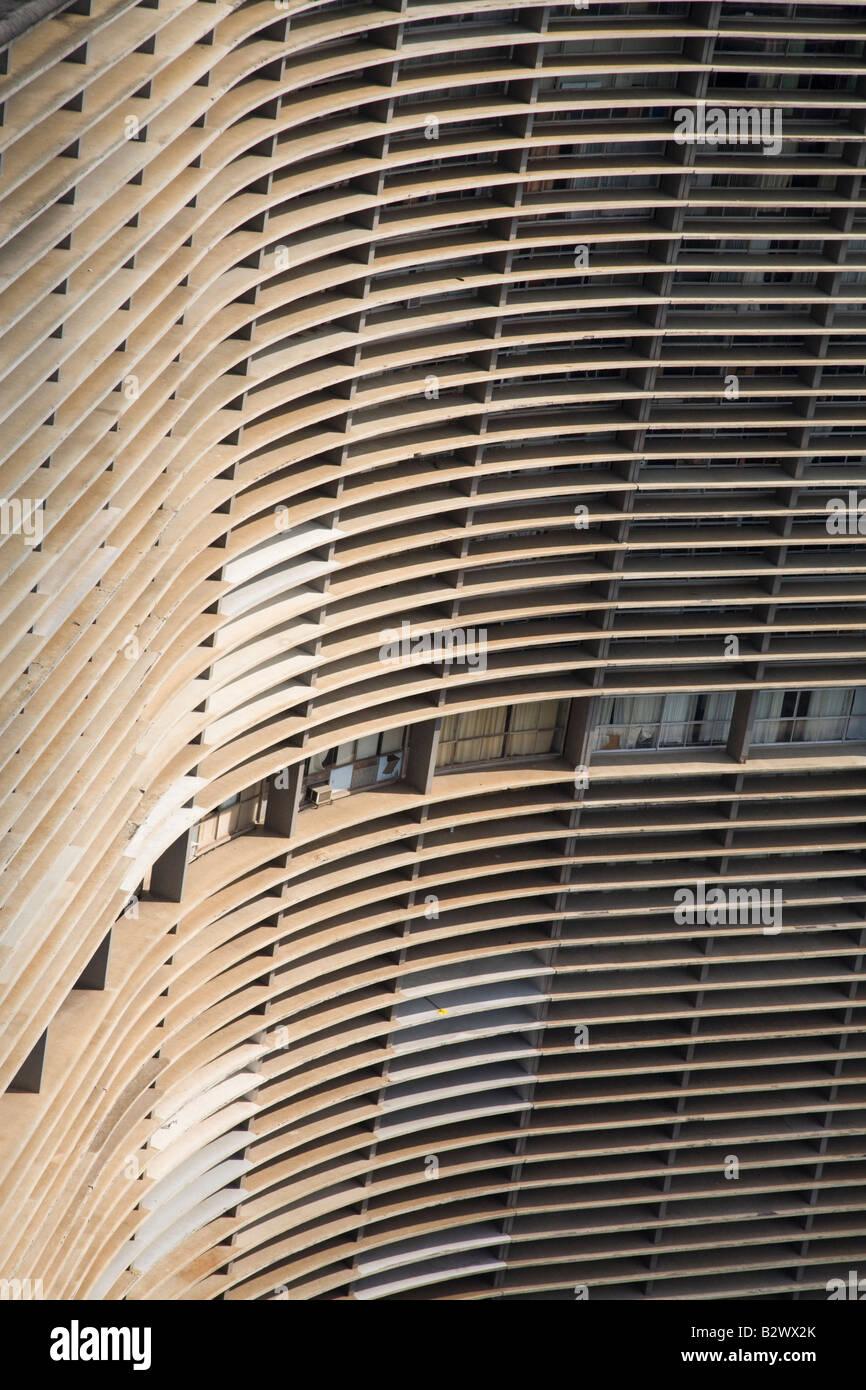 Edificio Copan progettato dall architetto Oscar Niemeyer, Sao Paulo, Brasile Immagini Stock