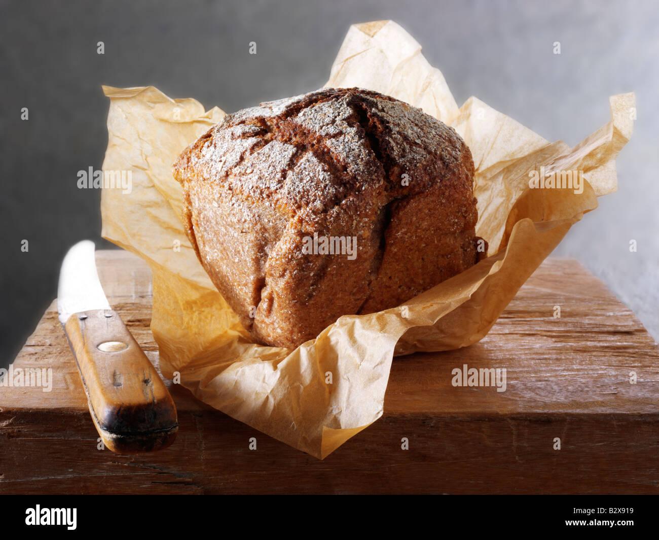 Deli artigianale del pane di segale pagnotta di pane Immagini Stock