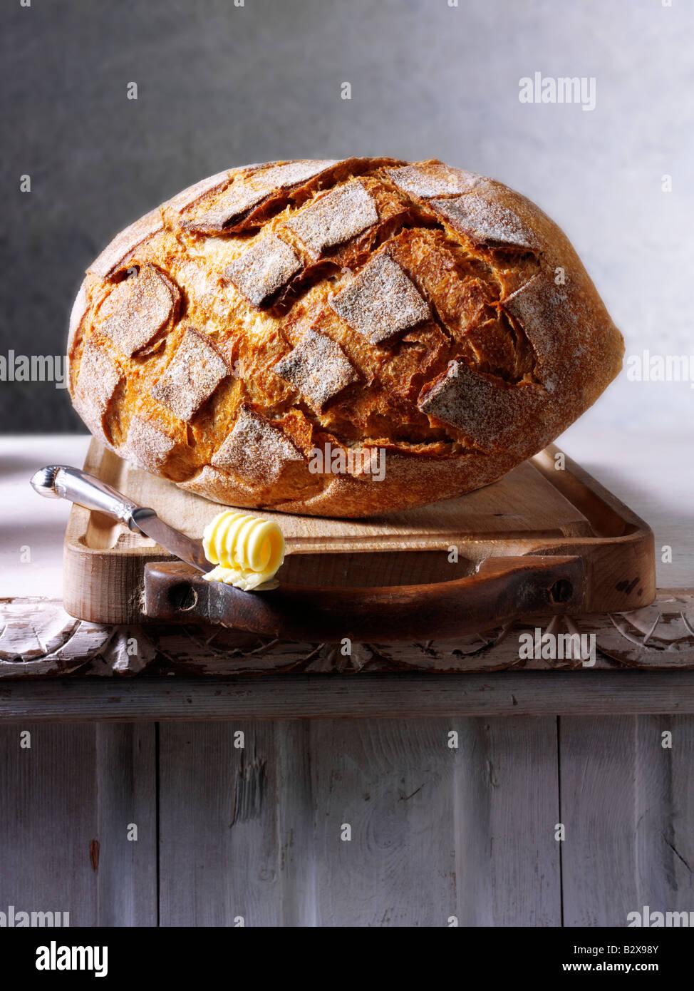 Pane di segale di pane Immagini Stock