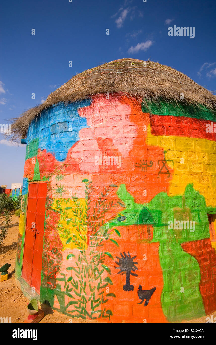 Colonia di artisti, grande deserto di Thar, vicino a Jaisalmer, Rajasthan, India, subcontinente, Asia Immagini Stock