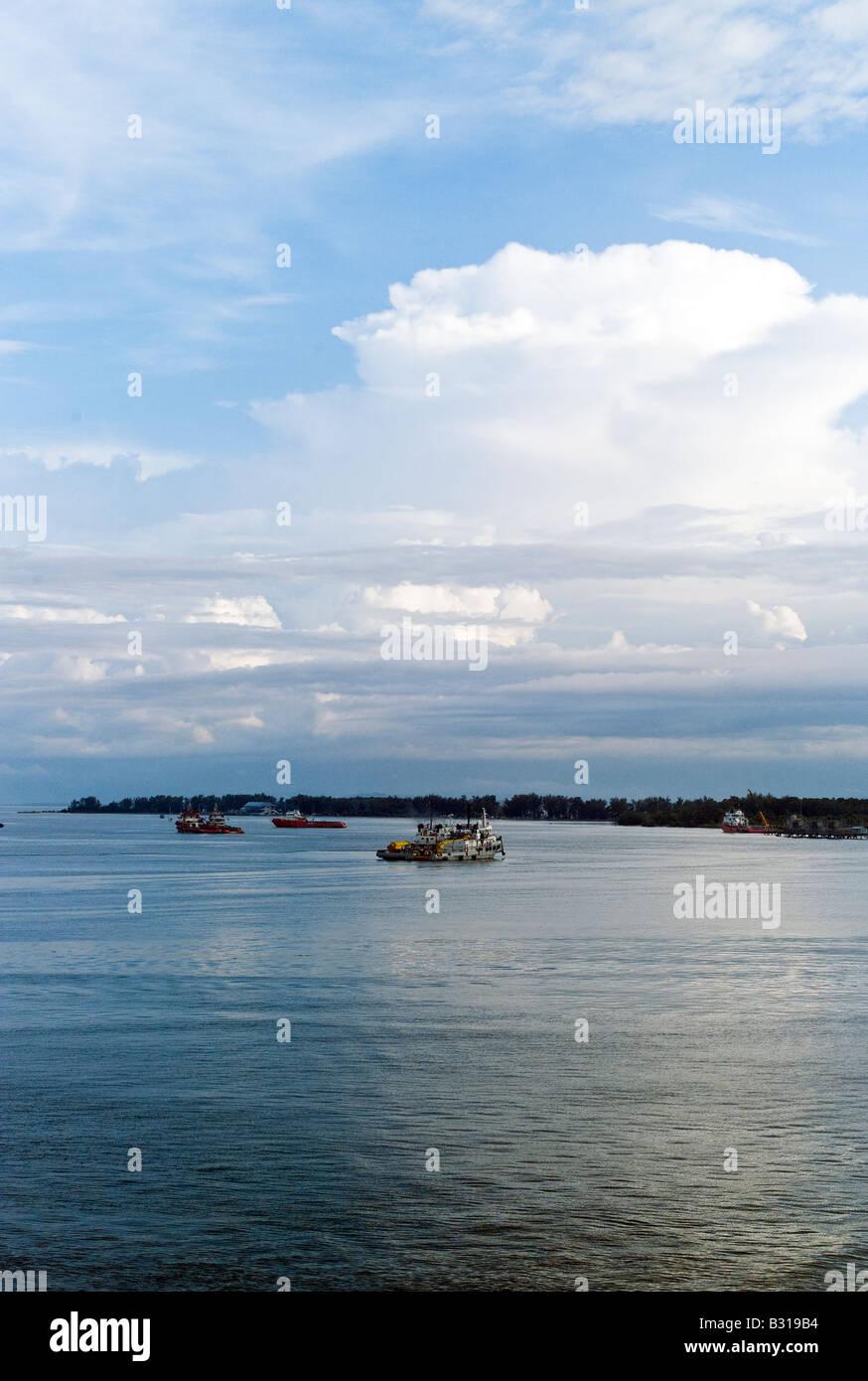 Borneo Brunei Bandar Seri Begawan vista della baia Immagini Stock