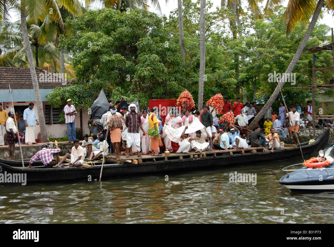 Nehru Trofeo boat race a Alleppey,Kerala, India Immagini Stock