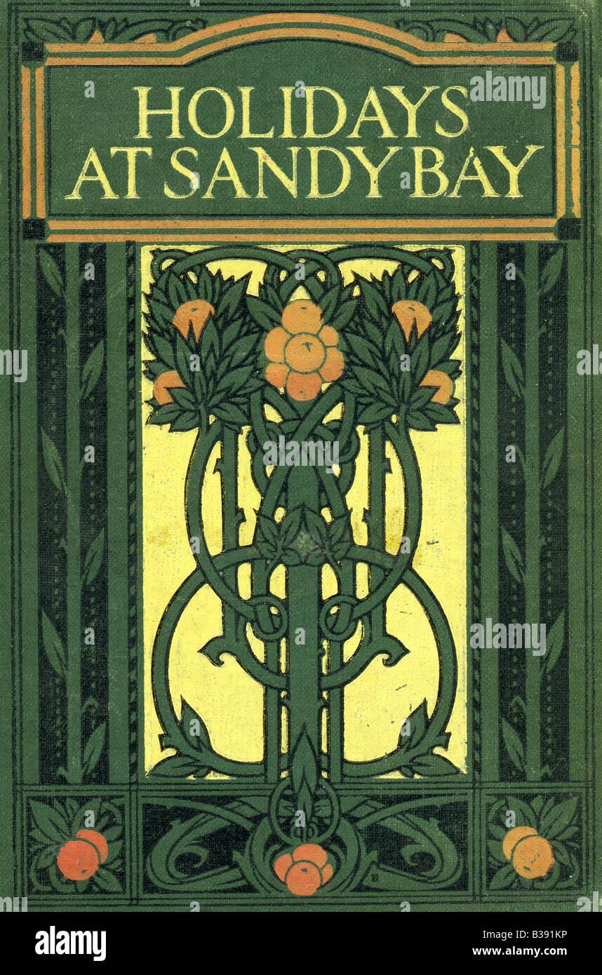 Novecento Art Nouveau decorate Copertina Rigida Vacanze a baia sabbiosa di un libro per bambini per E S Buckheim Immagini Stock