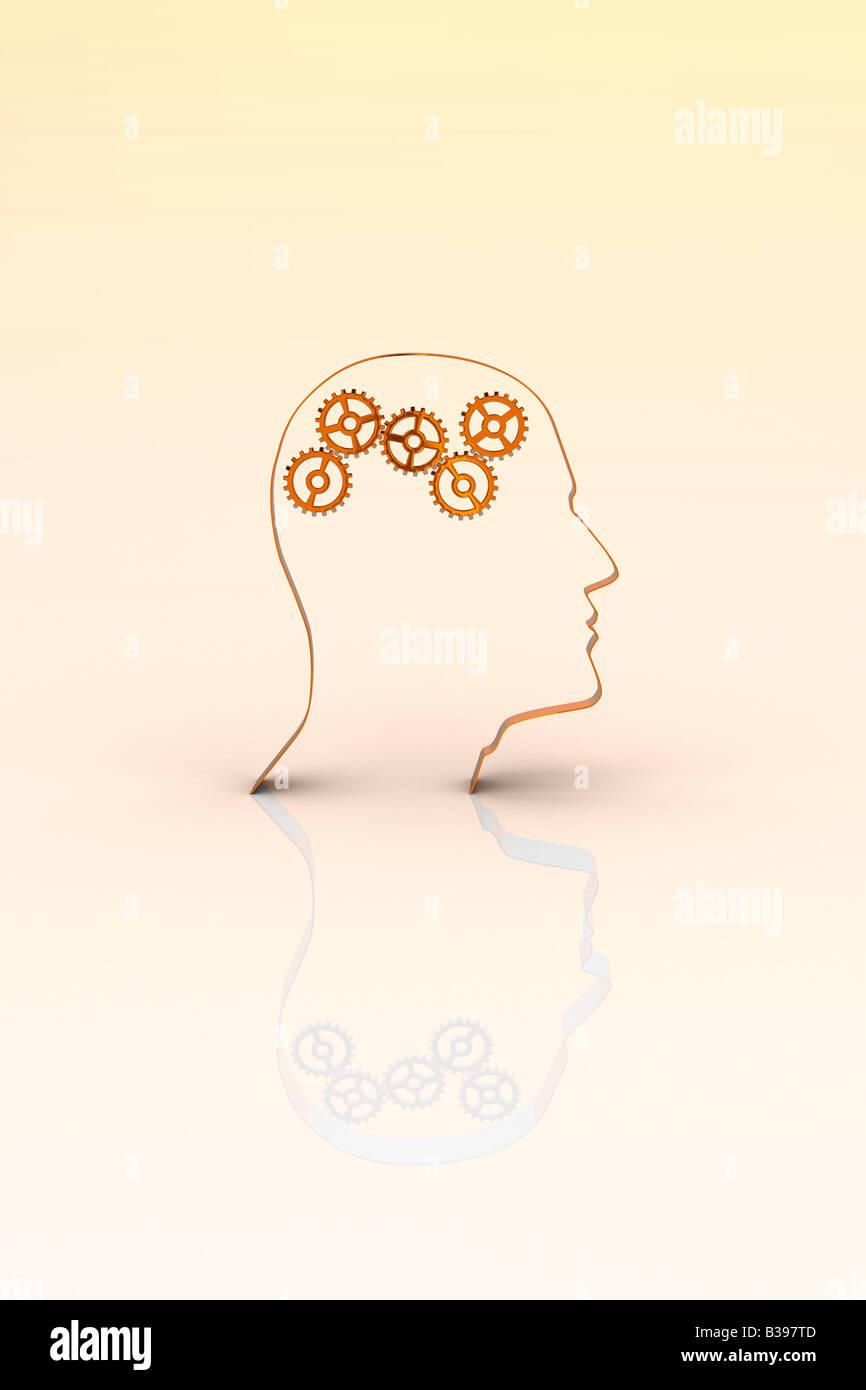 Concetto del cervello Immagini Stock